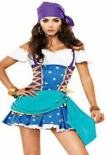 New Gypsy Fancy Dress Sexy Pirate Ladies Outfit Costume With Hat Free Shipping