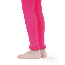 New Jefferies 1 pr Pima Cotton Ruffle Footless Tights  2-4Y, 4-6Y, 6-8Y HOT PINK