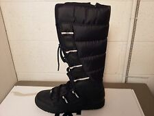 dc snow boot chalet black/oyster new in box