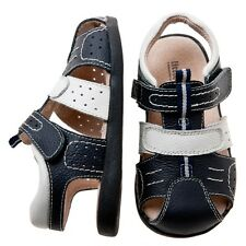 NEW Leather Boys Toddler Navy Sandal Shoes. Little Blue Lamb. Fantastic Quality