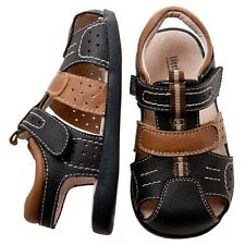 NEW Leather Boys Toddler Brown Sandal Shoes. Little Blue Lamb. Fantastic Quality