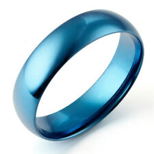 Sz4-16 Men Women Blue Wedding Anniversary Titanium Rings GMUS081
