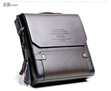 Hot Selling Authentic POLO Men's Leather Shoulder bag Messenger bag BROWN 2Size