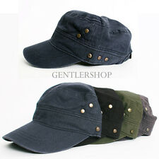 Mens Fashion Military Look - Ace Star Studs Hat 4 Colors, GENTLERSHOP
