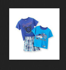 * NWT NEW BOYS 3PC NANNETTE Shark Ocean Motorcycle Summer OUTFIT SET 12M 18M