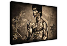 LARGE CANVAS WALL ART BRUCE LEE BLACK AND WHITE / PHOTO / ART / PICTURE / PRINT