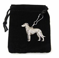 Deerhound Zip Pull in Silver, for Bags and Jackets