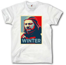 GAME OF THRONES  S-XXXL T-SHIRT WINTER IS COMING TV SERIES FILM