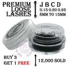 Individual Loose False Semi Permanent Eyelash Eye Lash Extensions J B C D Curl