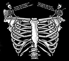 ANGEL DEVIL POT ILLEGAL SO FIRE UP A FATTIE CANDY ASS SKELETON RIB SKULL T-SHIRT
