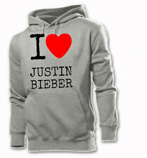 I LOVE JUSTIN BIEBER  BLOUSE SWEAT HOODIE S-XXL UNISEX MUSIC
