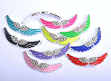 Charms Crystal Rhinestone Enamel Angel Curved Wing Connectors Findings 54MM