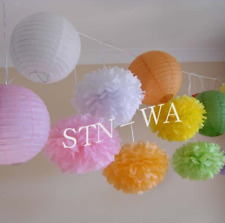 paper pom poms baby shower birthday party wedding engagement venue decoration