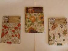 Thanksgiving Fall Tablecloth Leaves Pinecones Sunflowers 3 Styes 3 Size UPic NEW