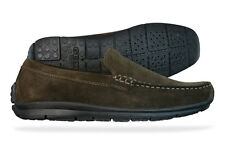 Geox Lord Suede Mens Moccasins Shoes - Brown - See Sizes