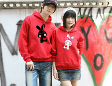 7 Colors Cute Rabbit Lovers Couples Hoodie Leisure Thick warm Women Men W9048