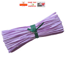Raffia Paper Gifts Ribbon Decorating Scrapbooks PINK LILAC 2m 10m 20m 100m CHEAP