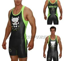 Pitbull powerlifting singlet, includes custom text, no minimums or set up fees