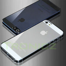Crystal Clear Ultra Slim Case Cover for Apple iPhone 5 5S & 4 4S FREE Protector