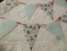 Handmade Cath Kidston / Christmas Bunting Retro 50's PVC Flags with Ribbon 40ft