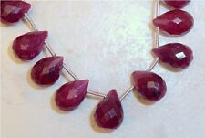 "Real RUBY 13-16mm X 8-10mm (1 Faceted Drops) Briolette Grade ""B"""