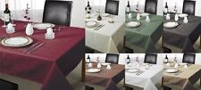 100% POLYESTER PLAIN CHECKED CHEQUERS TABLE CLOTHS GREAT FOR PARTY / CHRISTMAS