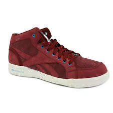 Reebok SL 211 Ultralight Mens Trainers Leather Burgundy Maroon New Shoes 7 UK