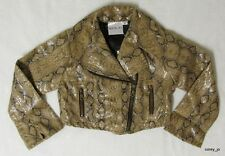 NWT Boutique OOH LA LA COUTURE Toddler Snakeskin Motorcycle Faux Leather JACKET