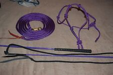 STIFF HALTER, 14' LEAD ROPE, HANDY CARROT STICK FOR PARELLI METHOD, MANY COLORS!