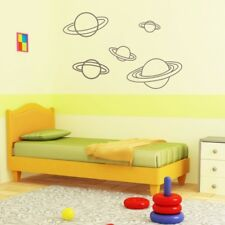 PLANETS wall stickers moons rocket earth sun space stars�planet art vinyl decal