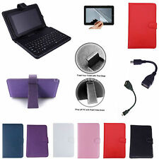 "Colorful Keyboard PU Case+Free Film For 9.7"" Polaroid S9/Aluratek CinePad AT197F"
