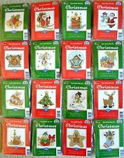 DMC CHRISTMAS MINI COUNTED CROSS STITCH KIT 16 DESIGNS SANTA SNOWMAN - NEW GIFT