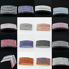Lots Curved Side Ways Crystal Rhinestones Bar Bracelet Connector Charm Bead Pick