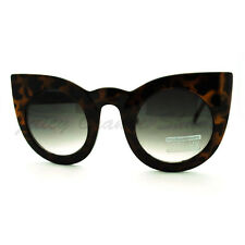 Oversized Round Cateye Sunglasses Womens Vintage Retro Eyewear