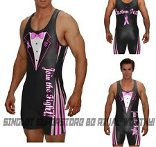 Wrestling singlet, join the fight breast cancer singlet, includes custom text