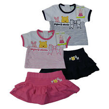 Baby Girl Winnie The Pooh Top and Skirt Set - Pink or Black BNWT