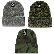 RapDom Military Camouflage Cuffed Beanies Knit Winter Watch Caps Hats