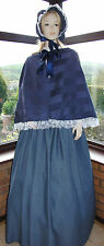 VICTORIAN GENTRY 3 PIECE COSTUME FANCY DRESS (Midnight Blue)