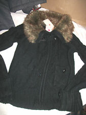 * NWT NEW GIRLS Faux-Fur Cardigan SWEATER SZ 7 14