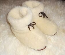 Men's sheep Wool SLIPPERS Fashion white BOOTS sheepskin Warm Valenki snuggs felt