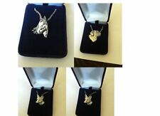 Silver Platinum Plated Necklace Handmade 16 INCH horse fox dog animals cat stag
