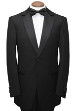 MENS MANS BOYS BLACK SINGLE BREASTED TUXEDO DINNER SUIT JACKET STUNNING QUALITY