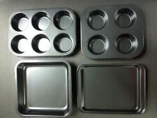 Non Stick Muffin Baking Tray 4 6 cup cake ovenware craft pan bun tin mould pudd