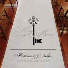 "Personalized Key Monogram Wedding Aisle Runner - Non-Woven Fabric 39"" x 75 Feet"
