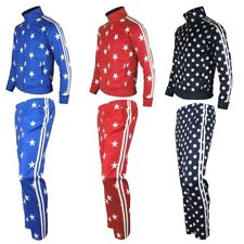 Mens Womens Star Running jogging Track Suit warm up pants jackets gym training