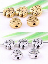 Wholesale 56/130Pcs Tibetan Silver/Gold (Lead-Free)Leaves Spacer Beads 7x3mm