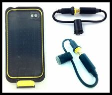 BLACK REPLACEMENT HEADPHONE JACK COVER SCREW SEAL CAP LIFEPROOF iPHONE4/4S CASE