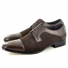 New Mens Faux Suede Casual Formal Lace Up Brogue  Shoes UK Size 6 7 8 9 10  11