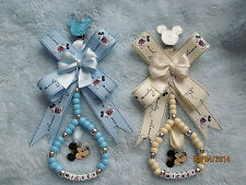 Beautiful Minnie/ Mickey Personalised Pram Charms, Various colours UNIQUE DESIGN