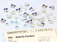 SWAROVSKI ELEMENTS 2854 Butterfly Flat Back - Many Colors & Sizes